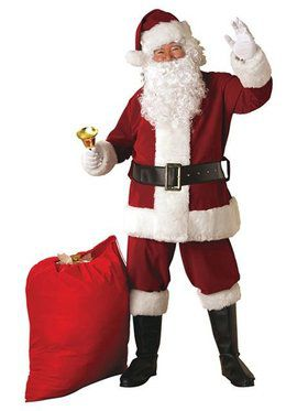 Extra Large Crimson Regal Plush Santa