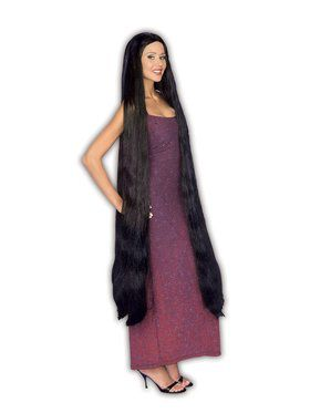 Extra Long Godiva Black Adult Wig