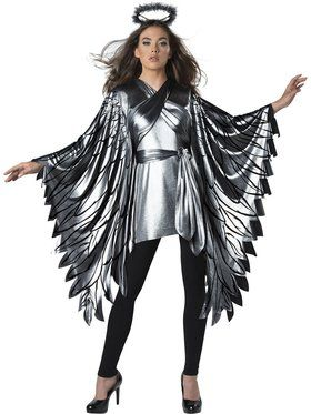 Fallen Angel Poncho Women's Costume