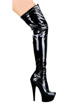 Fantasy Black Thigh High Boot