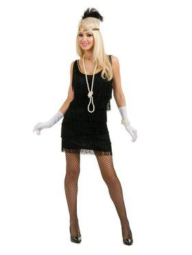 Fashion Flapper Adult Black