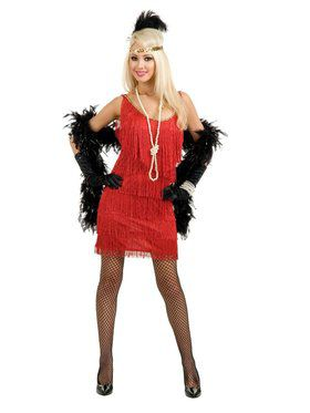 Fashion Flapper Adult Red