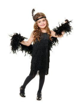 Fashion Flapper Child Black