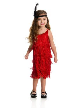 Fashion Flapper Child Red