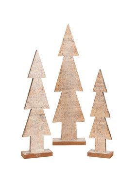 Faux Wood Assorted Trees (3)