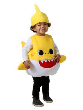 Kid's Feed Me Yellow Baby Shark Costume