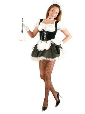 Fi Fi French Maid w/Petticoat Adult Costume