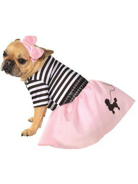 Fifties Girl Pink Pet Costume