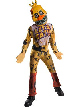 Child Five Nights at Freddy's Nightmare Chica Costume