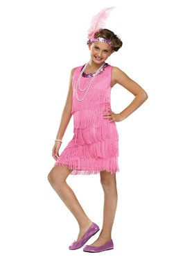 Vintage Flapper - Pink - Child Costume