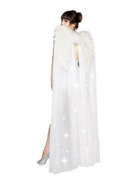 White Full Length Wings 24 X 34