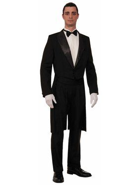 Formal Tuxedo Tailcoat - Std. Adult Costume