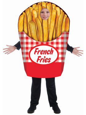 French Fries - One Size Child Costume