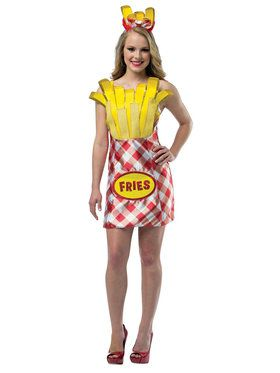 French Fries Womens Dress Costume