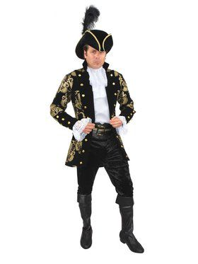 French Pirate Captain - Plus Adult Black