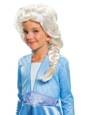 Frozen 2 Elsa Girls Wig