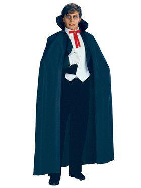 Full Length Black Fabric Adult Cape
