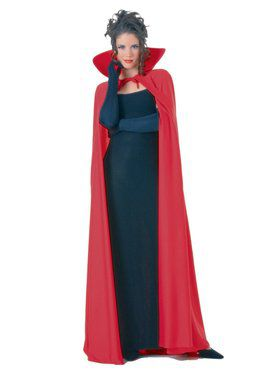 Full Length Red Fabric Cape Adult Costume