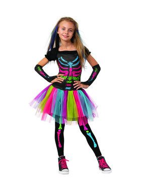 Halloween Costumes For Girls Age 11 12.Funky Punky Skeleton