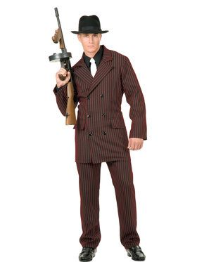 Gangster - 6 Button Double Breasted Suit L