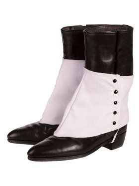 Gangster Spats with Black Buttons