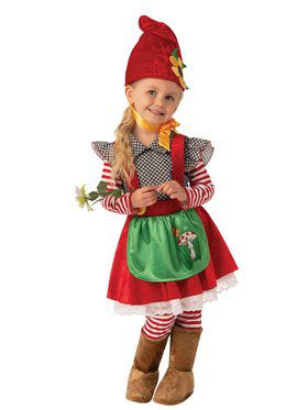 Garden Gnome Girl's Costume