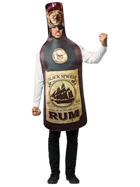 Get Real Rum Bottle Adult Costume Standard