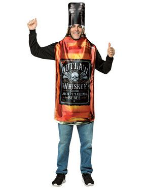 Get Real Whiskey Bottle Adult Costume Standard