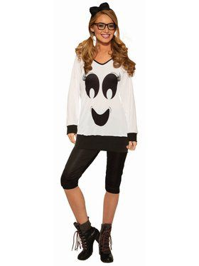 Ghostie Girl - Shirt, Leggings & Bow - Standard