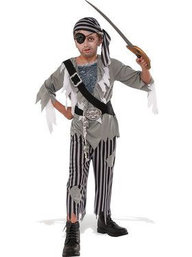 Ghostly Pirate Boys Costume