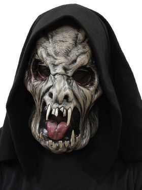 Ghostly Visitor Overhead Mask w/ Hood One Size