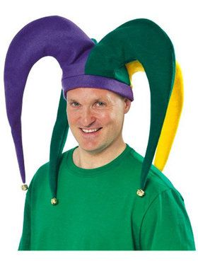 Mardi Gras Giant Jester Adult Hat