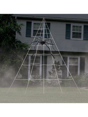 Giant Spider Web Decoration with Stakes