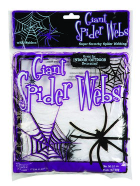 Giant Spider Webs-White 2Oz