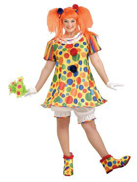 Giggles the Clown Plus Costume for Adults