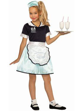 50's Diner Waitress Girls Costume