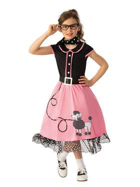 Girls 50's Sweetie Costume