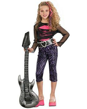 80s Rock Star Kid's Costume