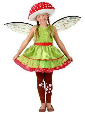 Girls Amanita Mushroom Fairy Child Costume