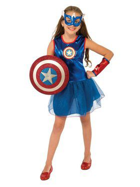 Girls Captain America Child Costume