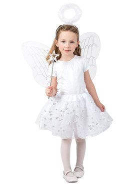 Girls Angel Skirt Set Costume