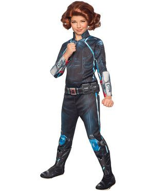 Avengers 2 Girl's Deluxe Black Widow Costume