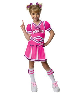 Girls Barbie Cheerleader Costume