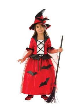 Girls Witch of Bats Costume
