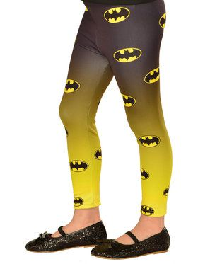 Girls Batgirl Footless Tights