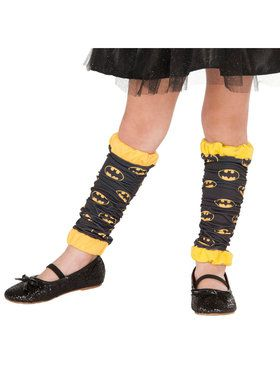 Girls Batgirl Leg Warmers
