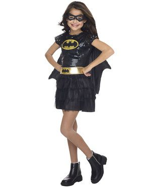 Girls Batgirl Sequin Costume