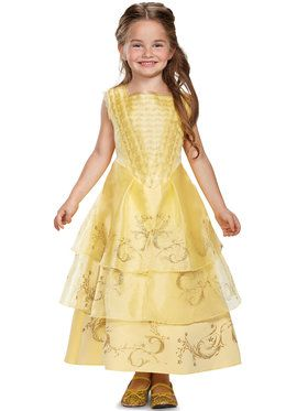 Girls Deluxe Ball Gown Belle Costume