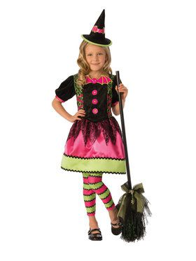 Kids Bright Witch Costume