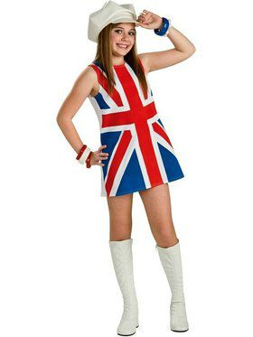 Girls British Invasion Costume
